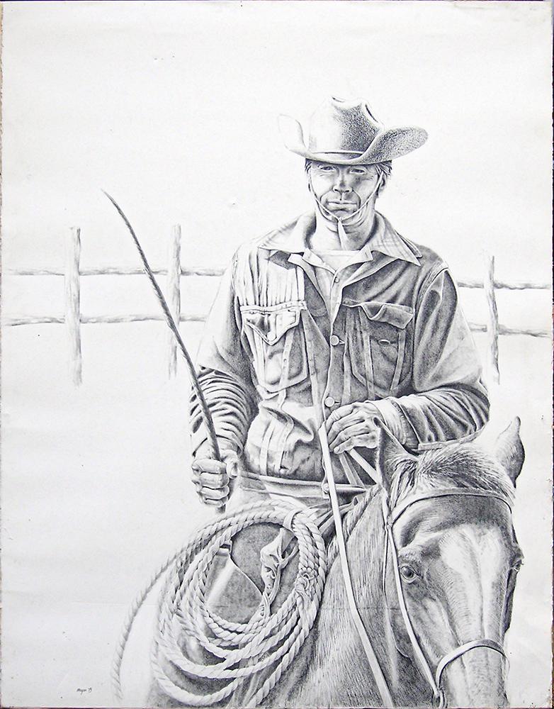 "McAllen Ranch Foreman <span>Pencil on Stonehenge paper<br>38.5"" x 50""</span>"